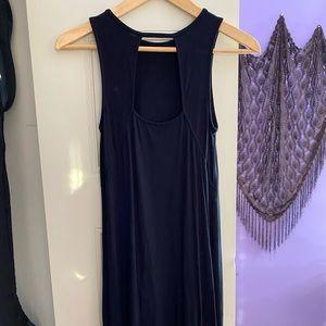 midi dress with back cutout